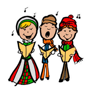 Clipart Christmas Caroling.