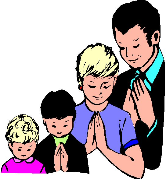 Family praying together clipart 4 » Clipart Station.