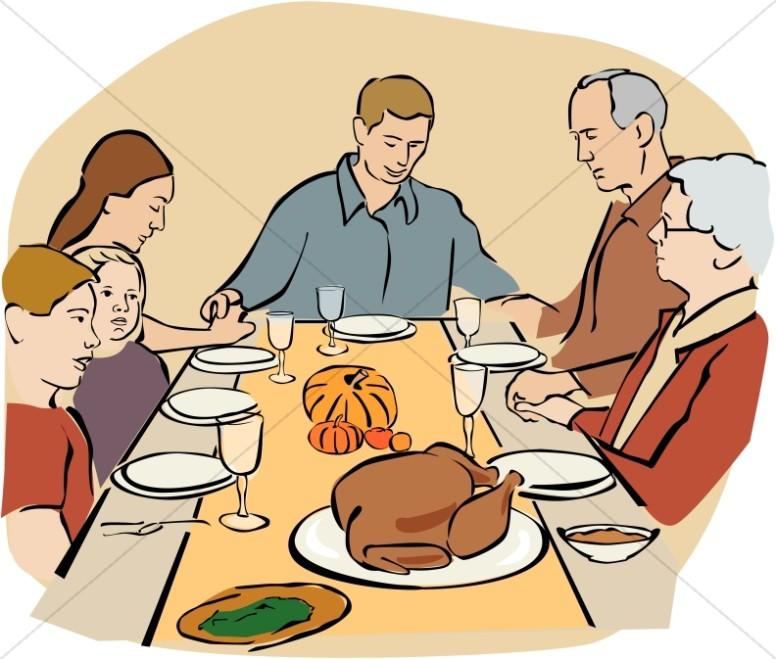 Thanksgiving Prayer Clipart.