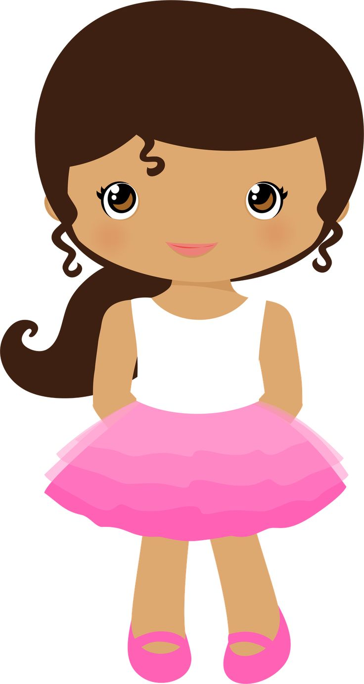 Cute clipart and girls on.