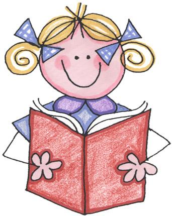 Girl In Library Clipart.