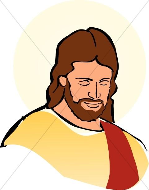 Color Portrait of Jesus.