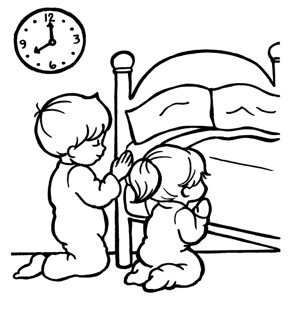 praying coloring pages preschool.