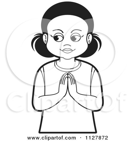 picture of little girl praying