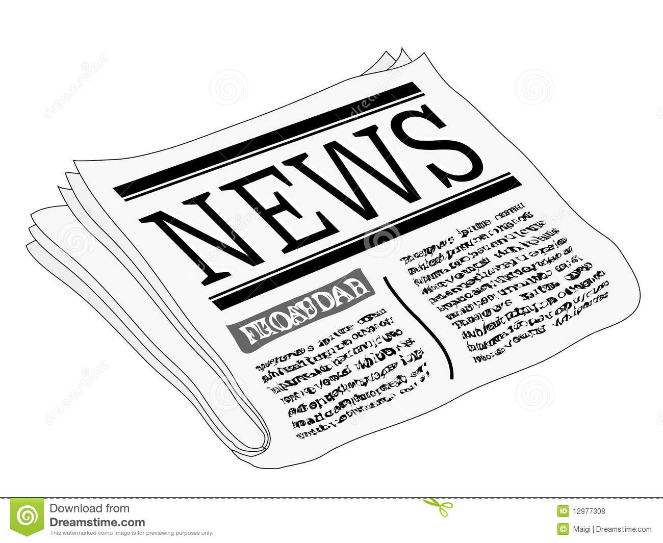 Newspaper clipart free 3 » Clipart Station.