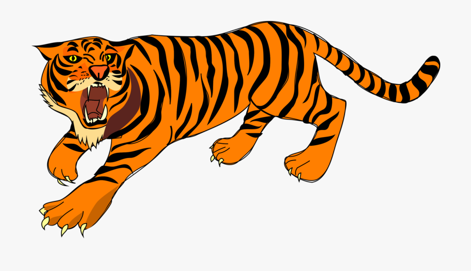 Tiger Angry Defense Stripes Png Image.