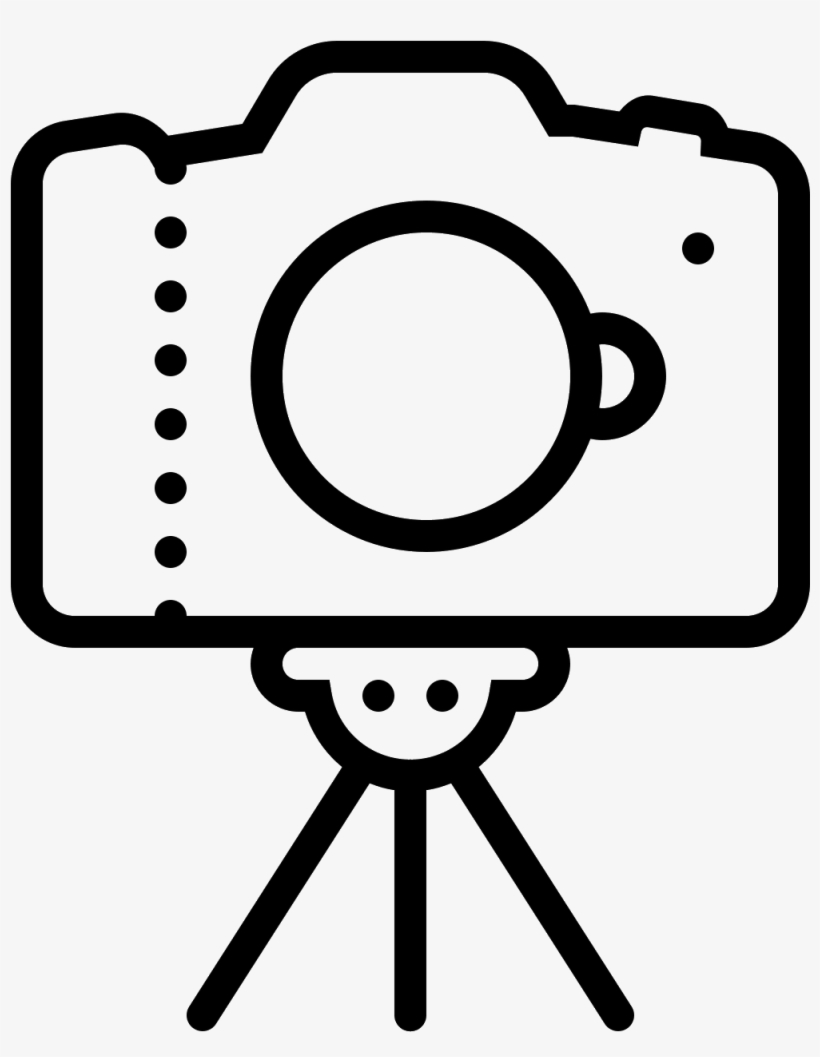 Camera On Tripod Icon.