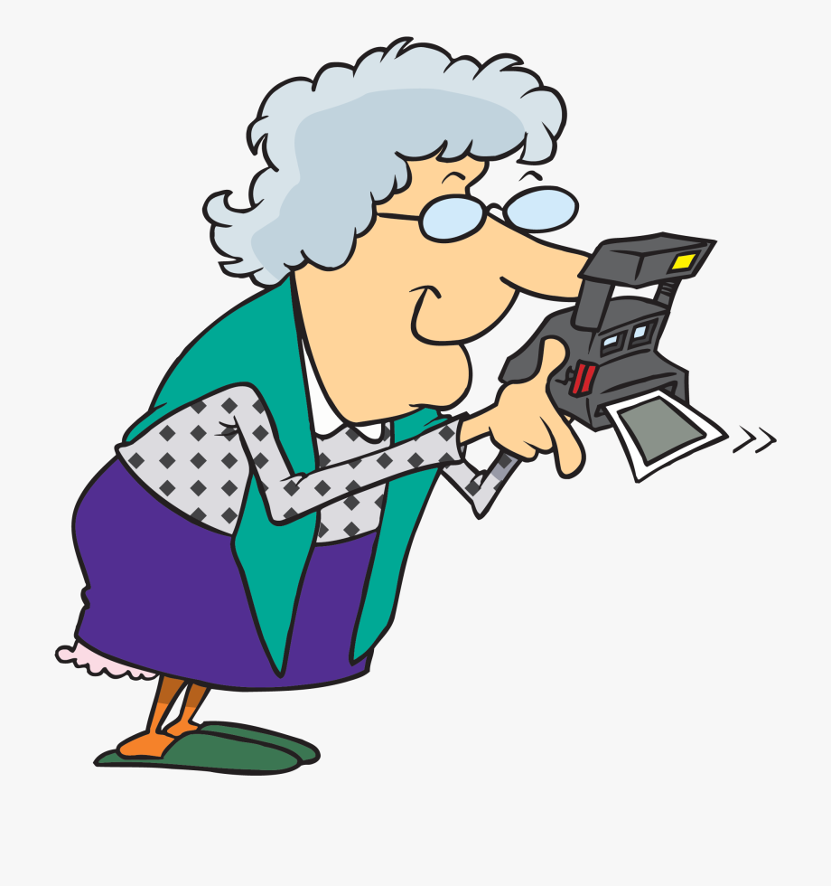 Grandma Taking Pictures Clipart , Png Download.