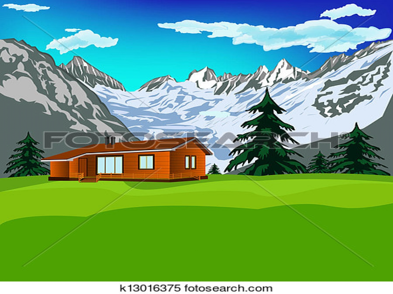 Swiss alps clipart.
