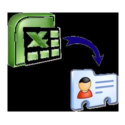 Excel (xls,xlsx,csv) to VCF (vCard) Online Converter.