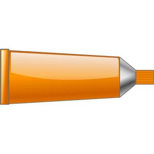 Orange color tube clipart.