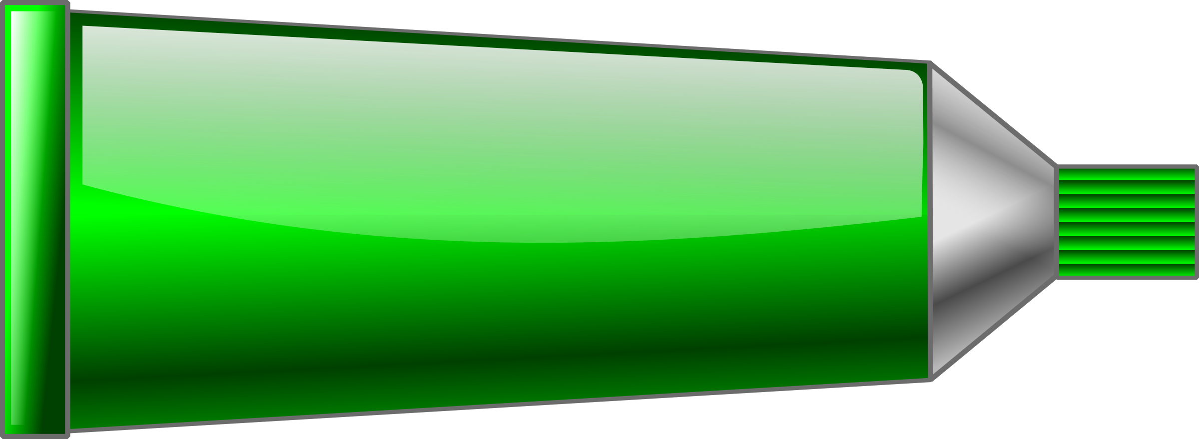 Green Color Tube Clipart.