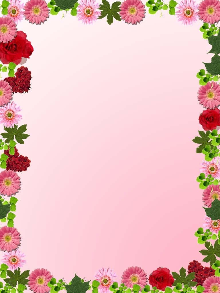 Borders With Flowers Clipart.