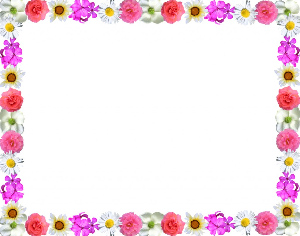 cute natural flowers borders design http://pageborderdesigns.com.