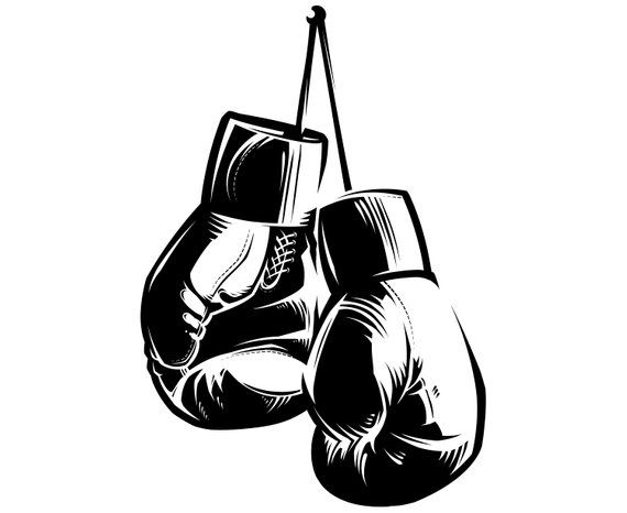 Boxing gloves, Silhouette,SVG,Graphics,Illustration,Vector.