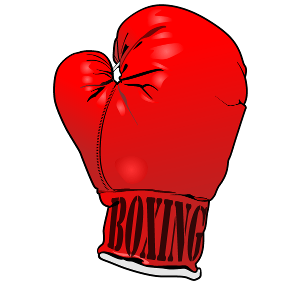Red Boxing Gloves Vector Image Free.