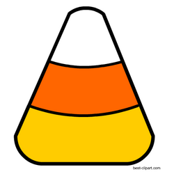 Free candy corn clipart.