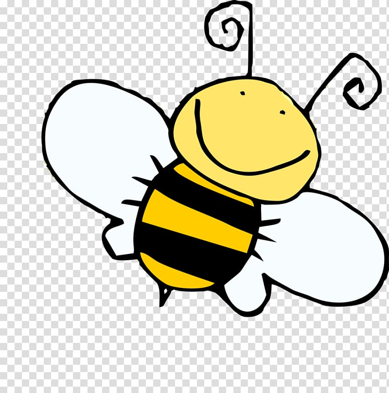 Black and yellow bee illustration, Bumblebee Cartoon Honey.