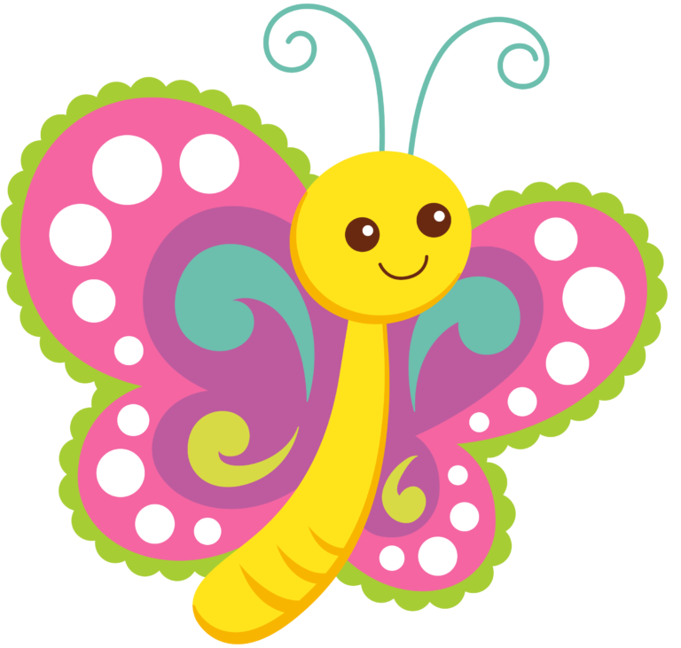 Cartoon Butterflies Clipart.