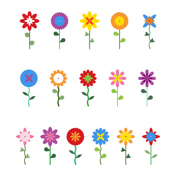 Cartoon flowers clipart 1 » Clipart Station.