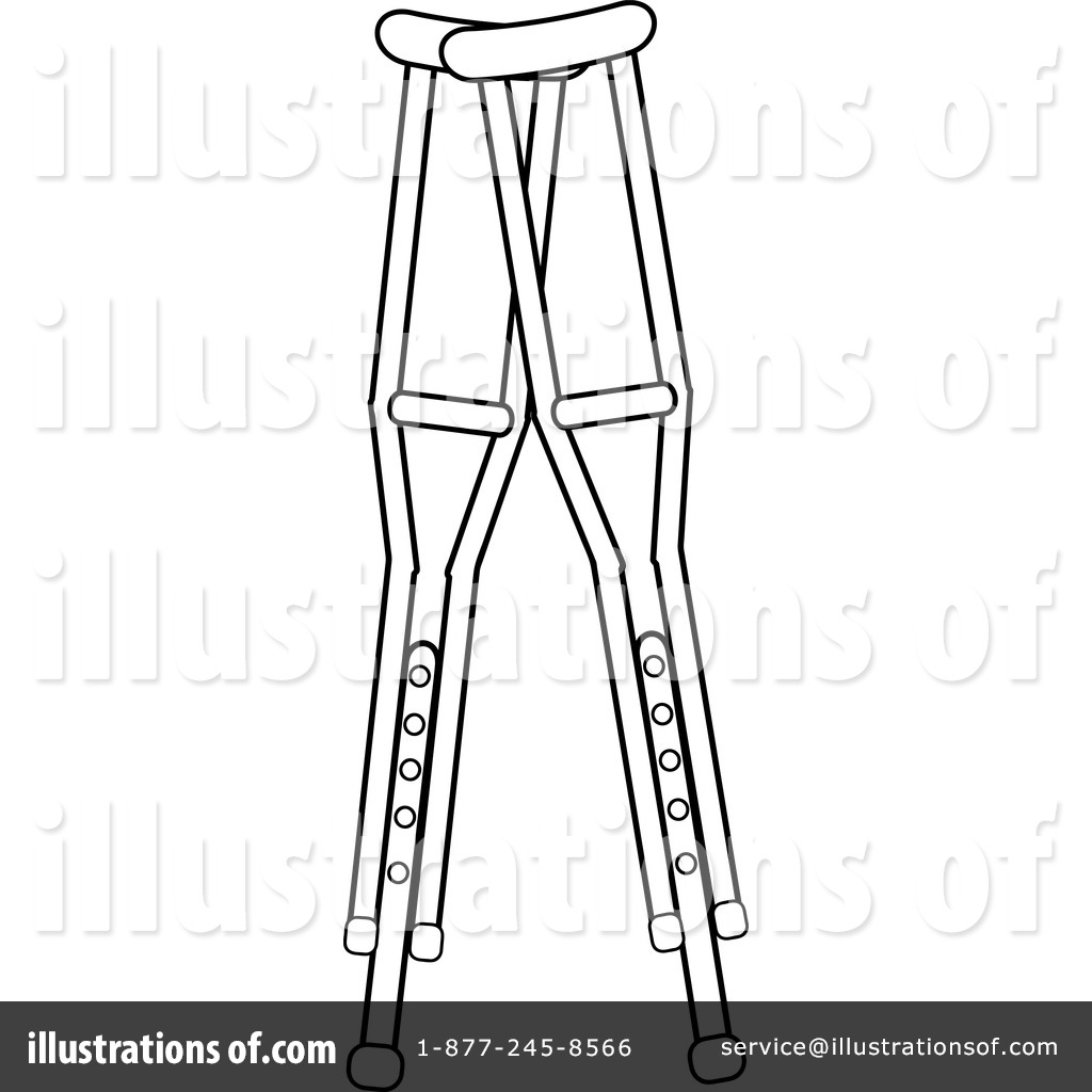 Crutches Clipart #1079157.