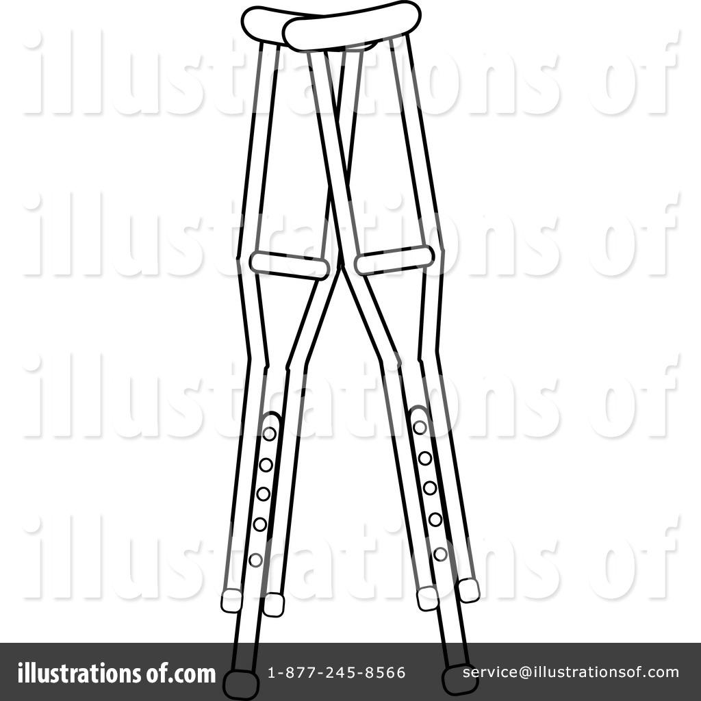 Crutches Clipart #1079157.