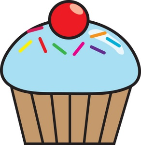 Chocolate cupcakes clipart.