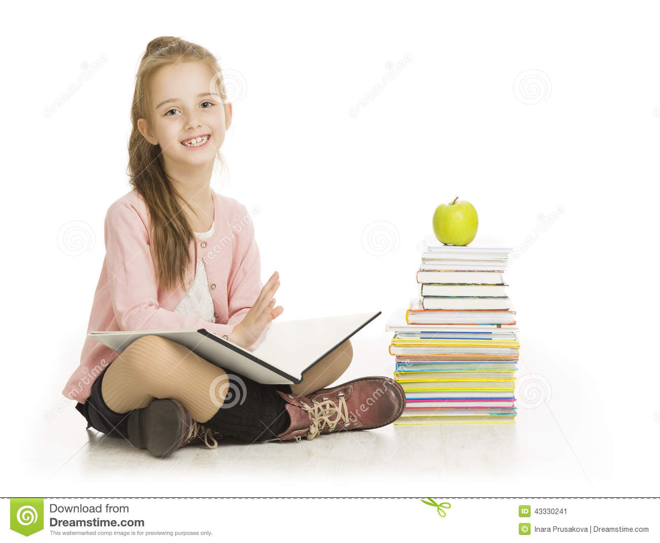 Child Reading Book Stock Photography.