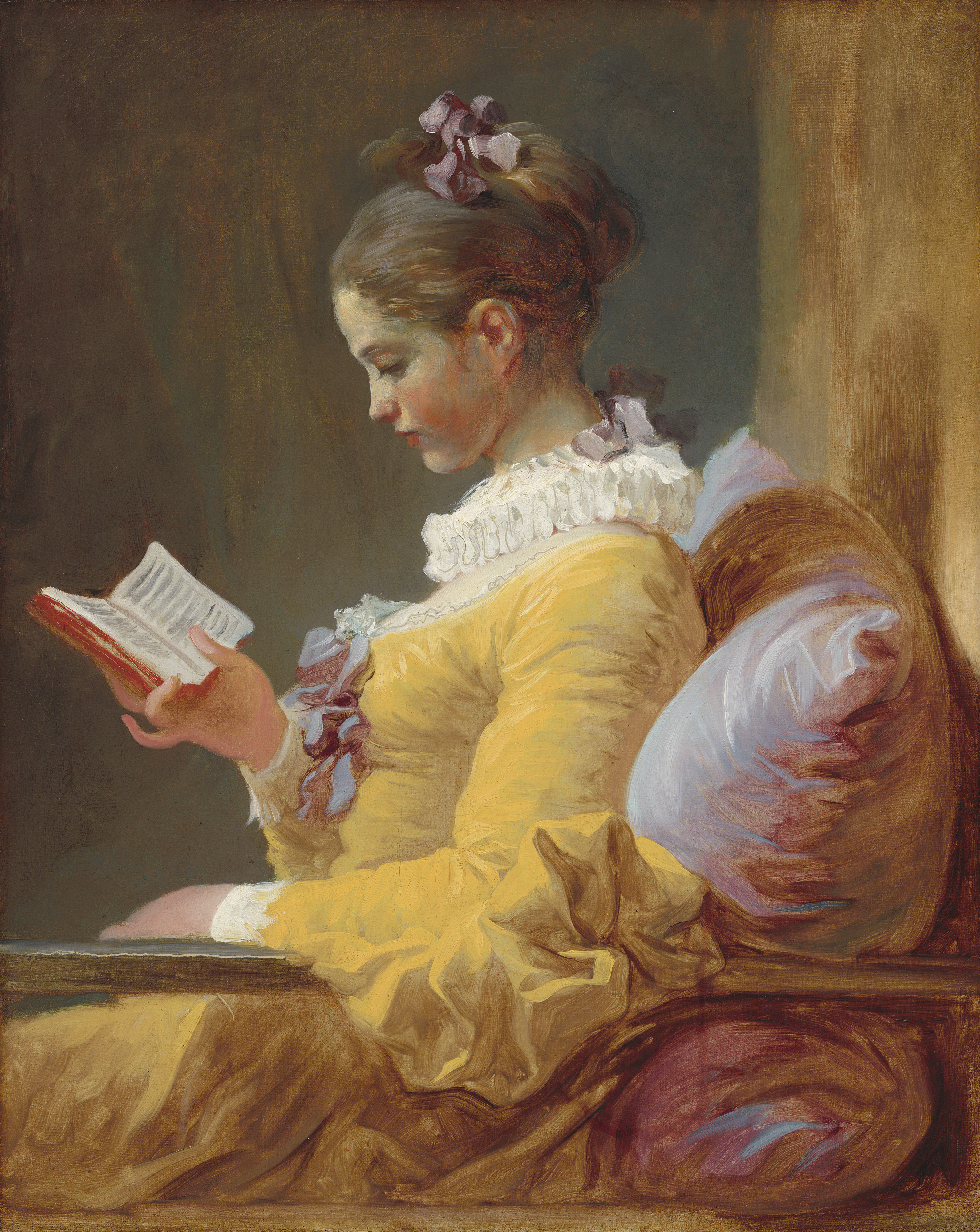A Young Girl Reading.