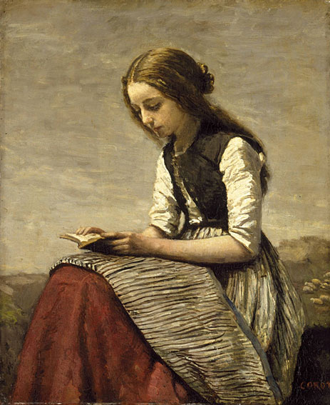 Girl Reading, c.1850/55 by Corot.