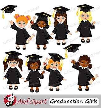 Graduation Clip Art Girls { Graduates clipart.