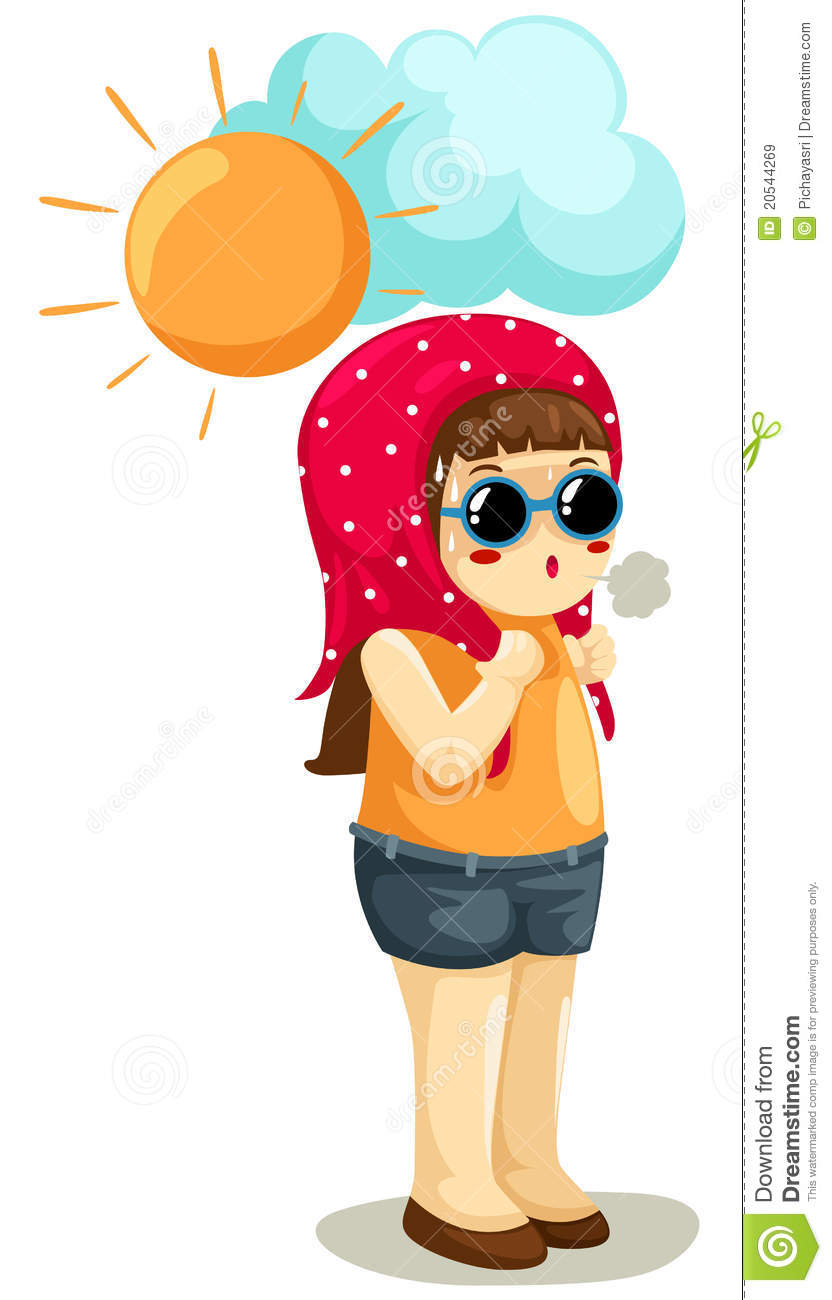 Girl In Hot Weather Royalty Free Stock Images Image.