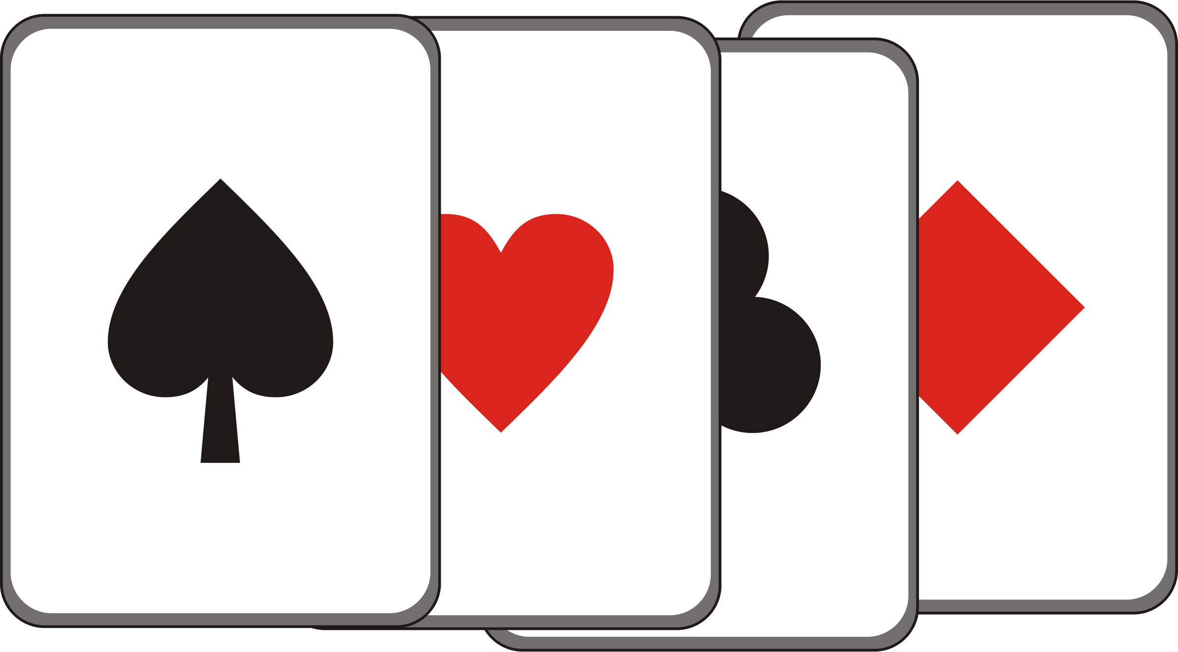Game Cards Cliparts.