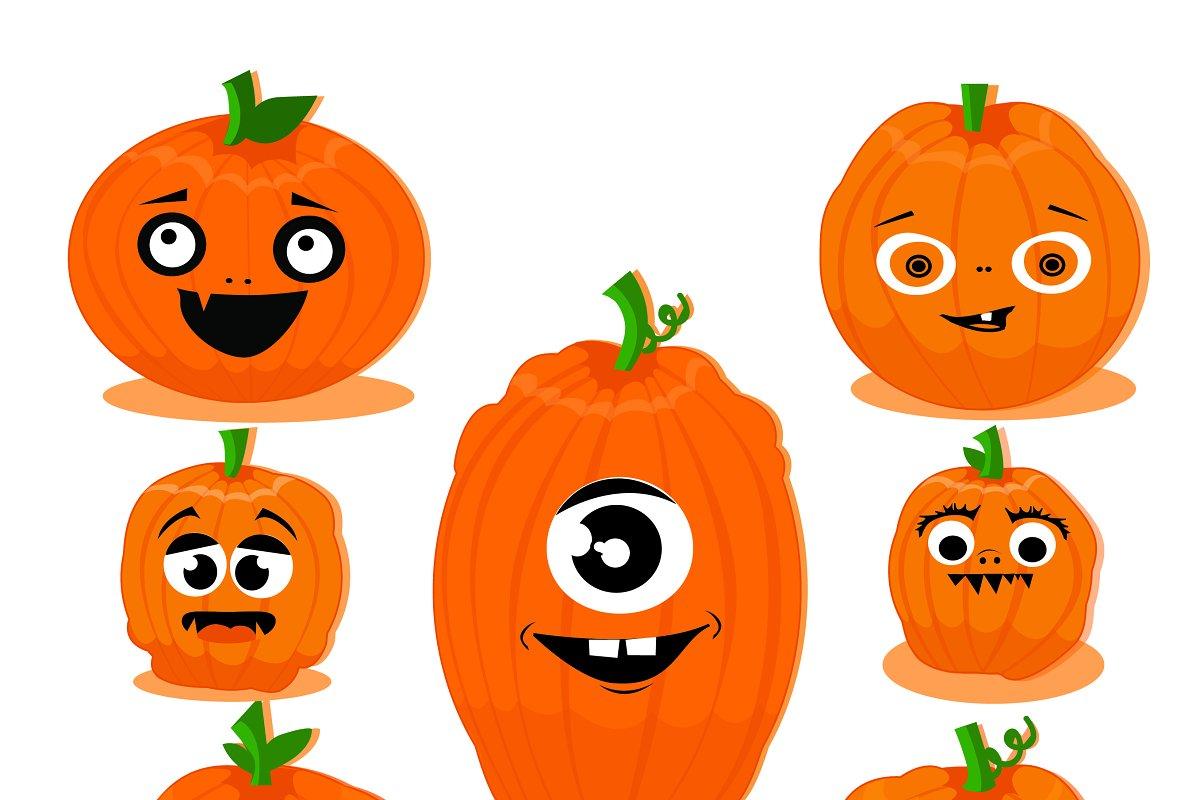 Funny pumpkins clipart.