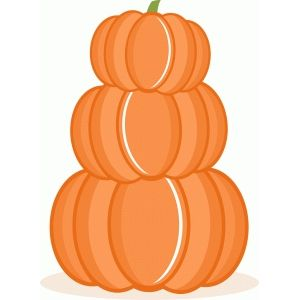 Silhouette Design Store: stacked pumpkins.