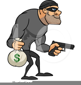 Clipart Of A Robber.