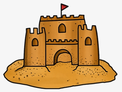 Free Sand Castle Clip Art with No Background.