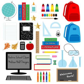 School Supplies Clipart.
