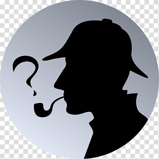 Detective Cartoon, Sherlock Holmes, Silhouette, Head.