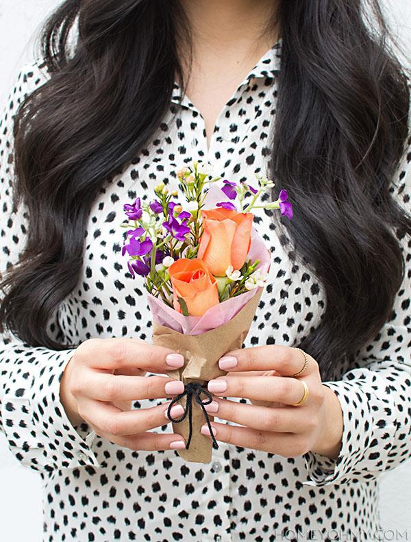 DIY Mini Flower Bouquets.