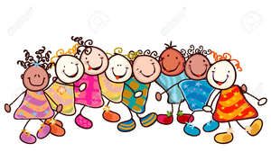 Kids Smiling Faces Clipart.