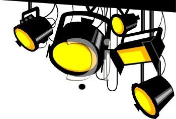 Stage Lights Clip Art · Talent Show.
