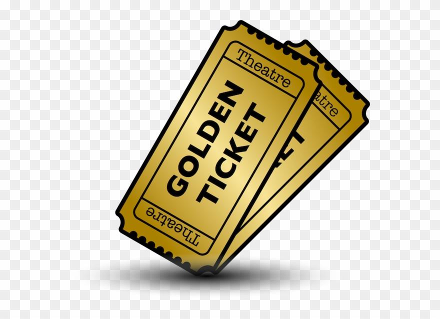 Tickets clipart golden ticket, Tickets golden ticket.