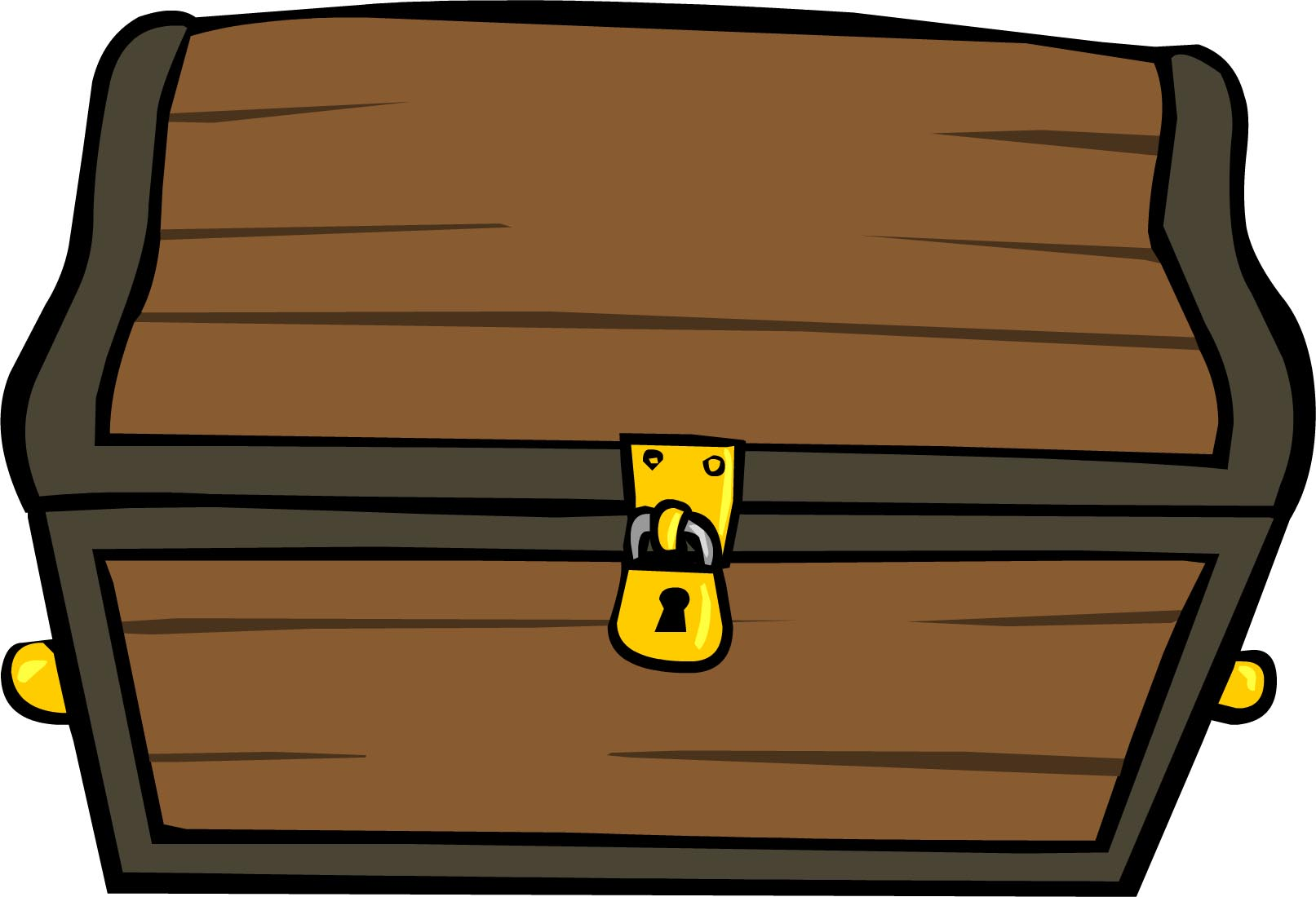 Treasure Chest Clipart with Lock.