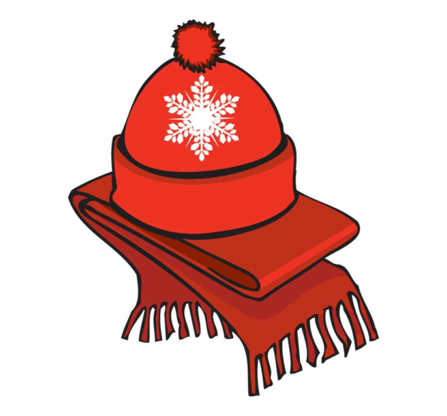 Clip Art Of A Winter Scarf An.