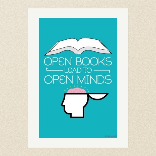 50 awesome posters that encourage to read.