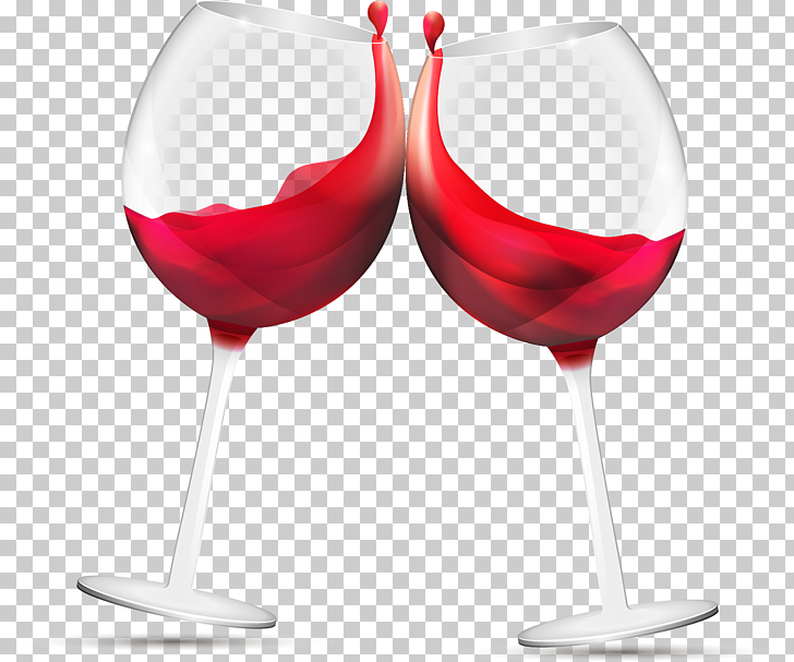 Red wine glasses, two wine glasses with red liquid in it.
