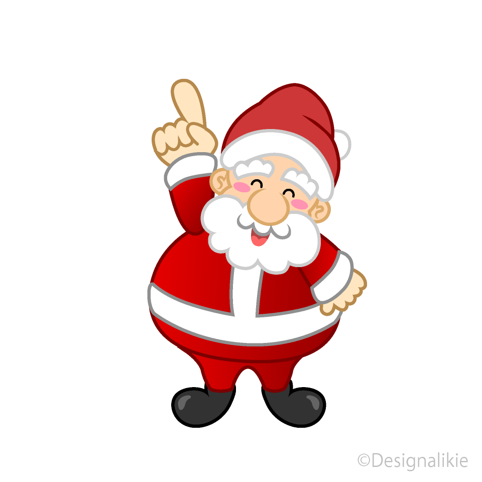Free Pointing up Santa Clipart Image|Illustoon.