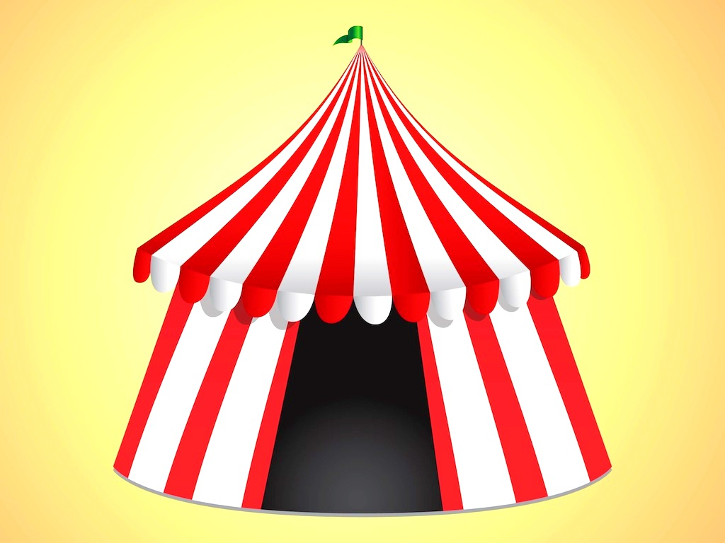 Climbing : Picturesque Circus Tent Clipart Hostted Border Clip Art.