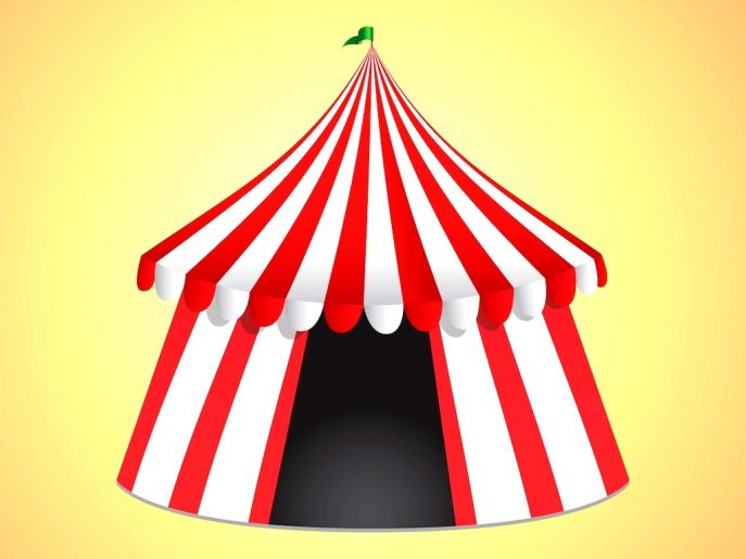 Climbing : Astonishing Vector Circus Tent Bright Icon Royalty.